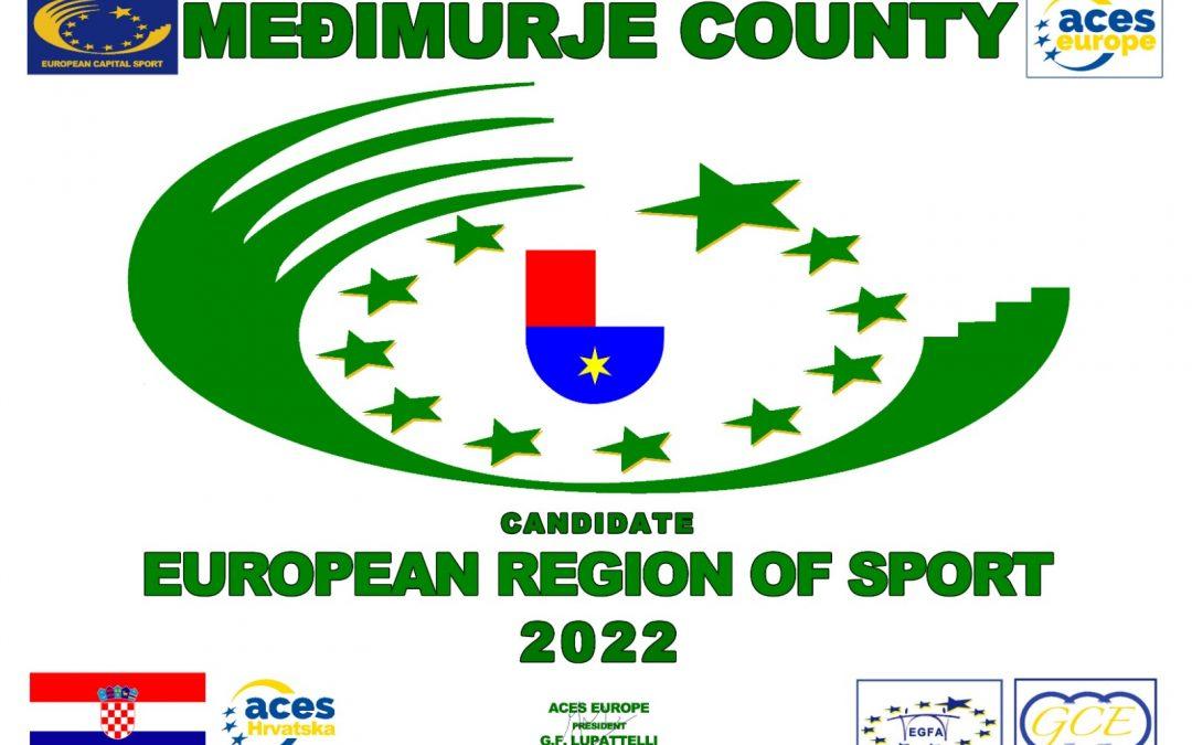 Međimurje proglašeno Europskom regijom sporta 2022