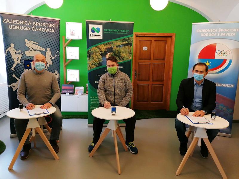 Potpisan Sporazum o suradnji između Međimurske prirode – Javne ustanove i Zajednice sportskih udruga Čakovca te Zajednice športskih udruga i saveza Međimurske županije