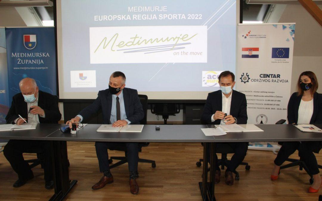 Međimursko veleučilište u Čakovcu postaje dio projekta Međimurje – Europska regija sporta 2022.